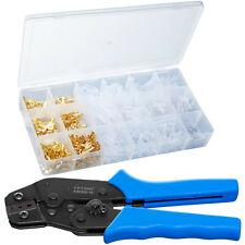 Crimpzange Set mit Flachsteckhülsen Crimpwerkzeug Presszange Crimpen 0.5-1.5mm²