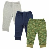 Luvable Friends Boy Toddler Tapered Ankle Pants, 3-Pack, Camo