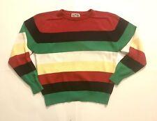 Vintage 80s 90s La Mode Striped Color Block Sweater Large
