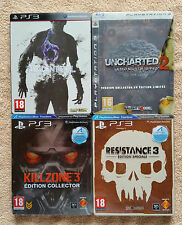 lot 4 jeux editions steelbook ps3 / Fr / complets / uncharted.... / envoi rapide