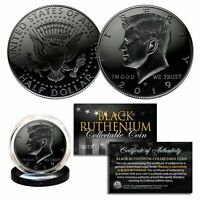 2019 BLACK RUTHENIUM JFK Kennedy Half Dollar U.S. Coin w/COA (Philadelphia Mint)