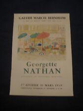 affiche Original MOURLOT GEORGETTE NATHAN  1959 GAL  BERNHEIM Werbeplakat poster