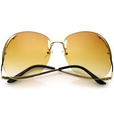 Gafas de sol de mujer degradadas marrón redondeadas