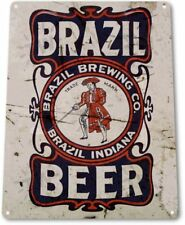 Brazil Brewing Beer Retro logo Bar Man Cave Garage Wall Art Decor Metal Tin Sign