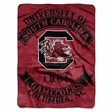 "South Carolina Gamecocks Plush 60"" by 80"" Twin Size NCAA Blanket"