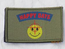 Happy Days, Smile, target, unit ID préservation Patch, velcro posteriore, distintivi, verde oliva