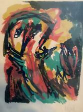 Karel Appel Pencil Signed Limited Edition Lithograph 1961 Face Nice!