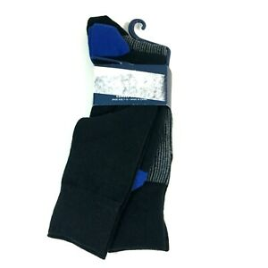 Cole Haan Mens Combed Cotton Dress Socks Shoe Size 7-12 Black 2 Pack