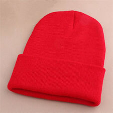 Pro Men's Women Beanie Knit Ski Cap Unisex Hip-Hop Blank Winter Warm Wool Hat