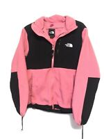 The North Face Women's Pink/Black Denali Jacket Size M Zip Up Fleece