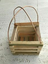 Orchid Planter Wooden Box Basket Hand Crafted Quality Made in the Usa New
