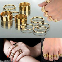 Hot!9PCS/Set Urban Golden Silver  Stack Noble Above Knuckle Ring Band Midi Rings