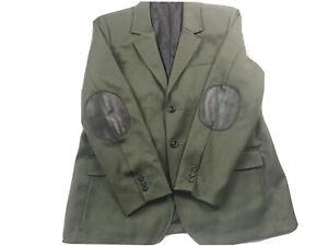 L L Bean Wool Sport Coat Hunting  Jacket 44 Large Master Green coat
