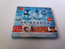 """CD """"50 GRADOS MI DISCO DEL VERANO"""" 2CD +DVD 41 TRACKS COMO NUEVO ANTONIO OROZCO"""