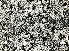 LACE FABRIC DESIGNER Dress Soft Bridal Floral Weddings Material Clothing 4 Cols