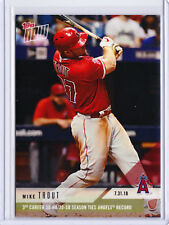 Mike Trout Angels 30 HR 20 SB Season Topps NOW Moment 536 7/31 2018 SHORT PR=648