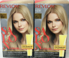 2 Revlon Salon Color 9 Light Natural Blonde Lasts 8 Weeks 100% Gray Coverage