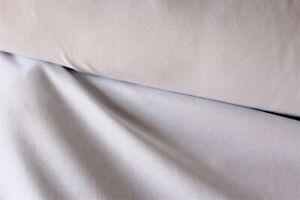tissu jersey coton  élasthanne blanc en 160 cm de large