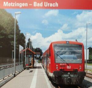 METZINGEN - BAD URACH, die Beschreibung der KBS 830.     - tadellos-
