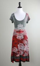 DESIGUAL $129 Paris Scoop Neck Paisley Print Lace Hem Dress Size Large