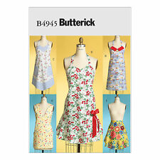 Butterick 4945 Sewing Pattern to MAKE 5 Aprons Full, Half & Wrap WWII Style