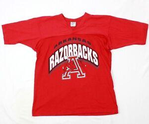 80's All Out Fan Col V Rouge Arkansas Razorbacks Sort Sortie Ringspun 1/2