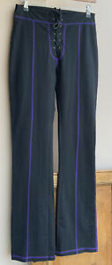 Funky/Gothic/witchy Lounge Wear Black Stretch Bootcut pants 8/10uk Tall