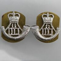 Staybright Durham Light Infantry Regiment Staybrite Anodised Collar Badge PAIR
