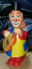 Western Germany Wind-Up Toy Clown with Chiming Guitar / Banjo *Altered READ INFO