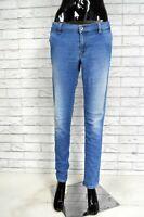Jeans Blu Donna GUESS LOS ANGELES Taglia 50 Pantalone Woman Pants Elastico