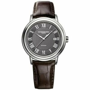 Raymond Weil Maestro Men's Automatic Leather Strap Watch 2837-STC-00609 RRP £895