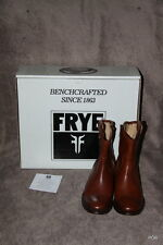 FABULOUS FRYE MELISSA BUTTON SHORT COGNAC TAN LEATHER BOOTS UK4 BRAND NEW IN BOX