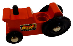 Brio Wooden Train Red Farm Tractor Fits Thomas the Tank Engine Made in Sweden