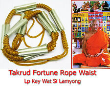 Thai Amulet Metta Takrud Fortune rope Waist Maha Setthi Lp Key Wat Si Lamyong 55