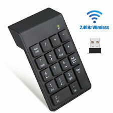 2.4GHz Wireless 18 Keys USB Number Pad Numeric Keypad Keyboard For Mac Laptop PC