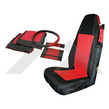 Front Seat Cover Set Black/Red Jeep Wrangler TJ YJ 1987-2002 Rough Trail SC10030