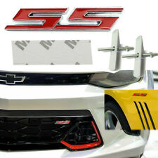 3D Metal Red SS Logo Bolt Badge Emblem Front Grille Decor For Chevrolet Camaro