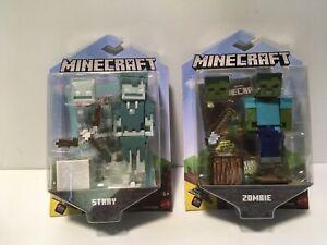 "MInecraft Figure Lot Zombie & Stray Comic Maker 3.25"""