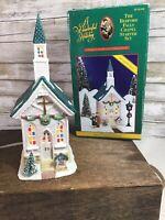 It's A Wonderful Holiday Bedford Falls Chapel Church Village Lights Life Its EUC