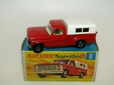 Matchbox Superfast No 6 Ford Pick-Up Truck DARK Red Green Base Narrow Wh MIB