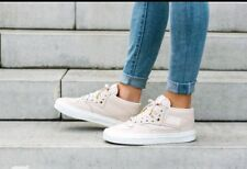 Vans HALF CAB DX Leather WhisperPink Gold Mens SZ 3.5  Women's 5.0 NEW