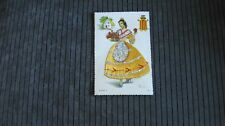 Vintage silk embroidered postcard from Spain new unposted