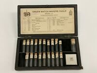 Vtg Gruen Watch Makers Guild Watch Parts Case For Model 155 With Vials
