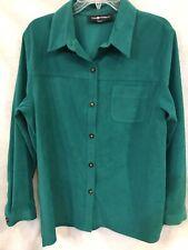 ***Women's Button Up Green Blouse Shirt.***