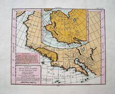 """Antique Map Of California: Robert de Vaugondy: """"Californie"""": Paris, 1772"""