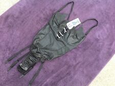 XTC  BLACK LEATHER BODY SUIT   SMALL  FETISH   STORMY DEMASK NORTHBOUND