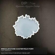 Epoxidharz Silikonform IRREGULAR STONE COASTER Gießform Epoxy Resin Art Form