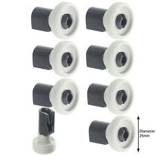 WHITE WESTINGHOUSE Dishwasher Top Upper Basket Runner Roller Wheels Axle Pins x8