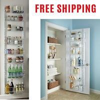 Over the Door Pantry Rack Storage Wall Mount Kitchen Basket Shelves Organizer