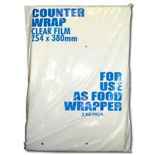 More details for butchers sundries clear counter wrap | multiple sizes | 2000 sheets/pack